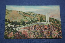 Vintage Linen Postcard 2130 Will Rogers Shrine Of The Sun, Pikes Peak, CO  a
