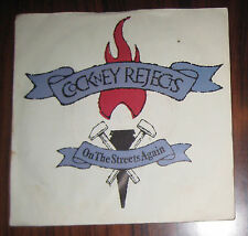 Punk Cockney Rejects On the Streets Again Lomdob 45 Single Vinyl Record 81 RARE