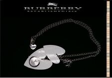 Burberry Women's Stainless Steel And White Acrlic Charm Neck Lace Watch BU5272