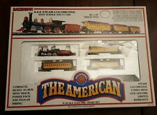 N Scale Union Pacific THE AMERICAN Train Set 4-4-0 Steam Engine #24405 FREE S/H