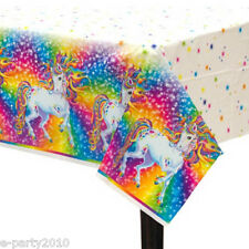 LISA FRANK PLASTIC TABLE COVER ~ Rainbow Birthday Party Supplies Decorations