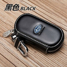 Black Leather Case for keys to Subaru Tribeca Vivio WRX STI XV XT