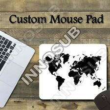 "Black And White World Map Cool Mouse Pad 7.75""x9.25"" Gaming Mousepad"