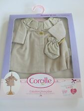"""COROLLE IVORY COAT & BAG FOR 14"""" DOLL - Y7412-0"""
