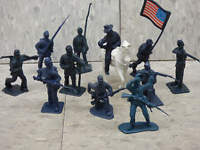 1/32 54mm Scale (12 Piece) American Civil War US Infantry Soldiers Lot 182X