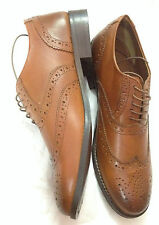 Zara Men's Formal Export Surplus 100% Leather Dress Brogues/Oxford Shoes Uk8/42