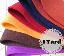 1 Yard 100% Virgin Merino Wool Felt - Cut to order