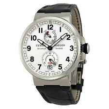 Ulysse Nardin Marine Chronometer Black Alligator Leather Mens Watch 1183-126-61