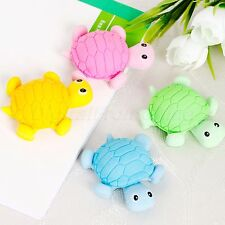 Kids Gift Lovely Animal Turtle Shaped Eraser Rubber School Office Stationery 1PC
