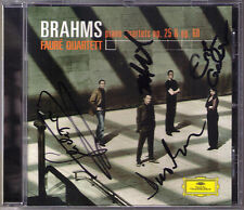 FAURE QUARTETT Signed BRAHMS Piano Quartet No.1 & 3 Op.25 60 Klavierquartett CD