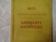1970 Mercury Montego Registered ORIGINAL OWNERS Manual Used Free Shipping