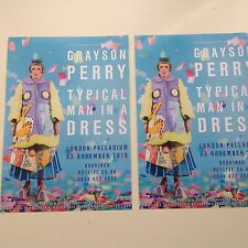 2x Flyer GRAYSON PERRY Typical Man In A Dress London Palladium 2016