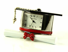 Wm.Widdop Miniature Clock - Graduation Gift Hat & Scroll 9343