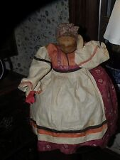 ANTIQUE HANDMADE GOSSIP MAMMY CLOTH DOLL STOCKINETTE FACE TOASTER COVER cozy
