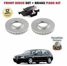 VW GOLF  1999-1/2004 1.9 SDi NEW FRONT BRAKE DISCS 256mm VENTED + DISC PADS SET