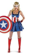 Da Donna Sexy AVENGERS Capitan America Costume Fancy Dress Party SUPEREROI EROE