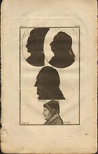 rev john caspar lavater 1797 physiognamy plate.  profiles of  albert de haller