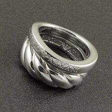 Emporio Armani .925 Silver Ring 100% Authentic Size 5.5 $140 BN With Gift Pouch