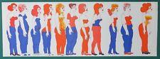 Günther Stiller 11 Frauen Farblithographie 1980 handsigniert u. nummeriert