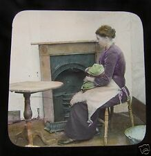 Glass Magic lantern slide THE MAN WHO SPOILED THE MUSIC NO7 C1890 VICTORIAN TALE