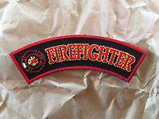 Firefighter Maltese Cross Small Rocker Patch