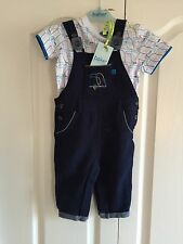 Ted Baker Baby Boys Polo Dungarees And Tshirt Set . 9-12 Months. BNWT. Designer