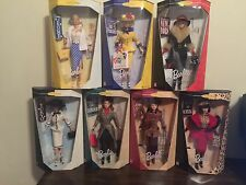 Lot of 7 different City Seasons Barbie Dolls NRFB  MINT CONDITION (COMPLETE SET)