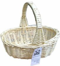 TRADITIONAL SMALL WICKER CONFETTI  HALLOWEEN XMAS POT BASKET FIXED HANDLE