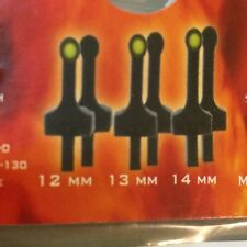 GSG 5 Front Sight Kit 6pc 3 Sizes 12, 13, 14 mm 3 Yellow 3 Black Tool & Screw In