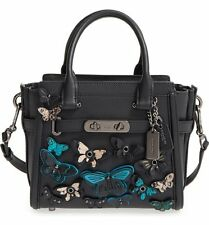 NWT COACH Butterfly Applique Swagger 21 Carryall In Glovetanned Leather 37912