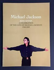 Michael Jackson Gold Memorial Program Ticket 2-Wristband  MINT