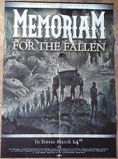 MEMORIAM For The Fallen BIG POSTER Bolt Thrower/Asphyx/Benediction/Dismember !!!