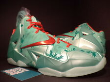 2013 Nike LEBRON XI 11 CHRISTMAS GREEN GLOW CRIMSON RED MINT BLACK 616175-301 14