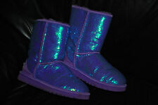 UGG Australia Classic Short Purple Sequin Bling Winter Boots (7) 3161