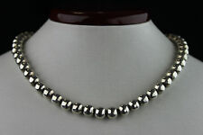 "WONDERFUL VINTAGE TD-25 MEXICAN STERLING SILVER BEAD NECKLACE 16"", 51 GRAMS"