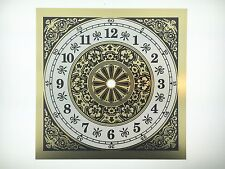 "Clock Dial Arabic Numerals Metal 7 7/8"" Square with 6"" Time Ring"