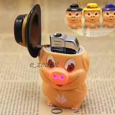 Lovely Pig Windproof Lighter LED/Music Simply for Gift/Collection (Random Color)