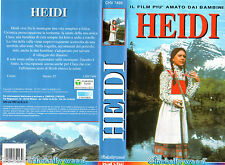 HEIDI (1965) VHS Cinehollywood Video  1a Ed. -   Eva Maria Singhammer - UNICA