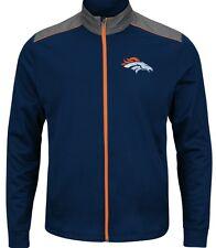 """j NFL Denver Broncos Majestic NFL """"Team Tech""""  Full Zip Jacket"""