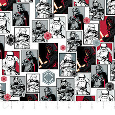 Dark Side  Star Wars Force Awakens Camelot Quilt Fabric by the 1/2 yd