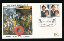 1981 CHARLES + DIANA WEDDING FDC...ROYAL TOURNAMENT OFFICIAL ENVELOPE