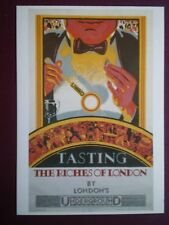 POSTCARD LTM-290 LONDON TRANSPORT 1927 POSTER 'TASTING THE RICHES OF LONDON' UND