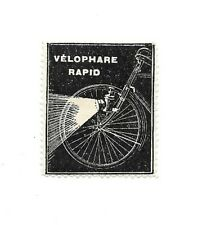 Original Vintage French Bike Light Advertising Poster Stamp