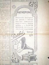 ritaglio clipping pubblicità PATHEFONO Pathè Freres,  Corriere Piccoli 12 1928