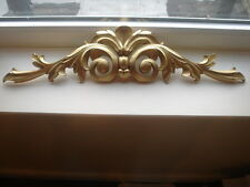 LARGE ORNATE TWO FOOT WIDE DECORATIVE PEDIMENT DOUBLE SCROLL MOULDING