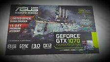 NEW - ASUS GeForce GTX 1070 Founders Edition Graphics Cards (GTX1070-8G)