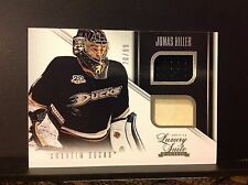 2013-14 Rookie ANTHOLOGY LUXURY SUITE JONAS HILLER #87 STICK JERSEY 20/99 Ducks