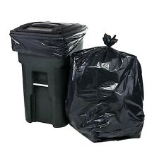 64 Gallon Black Trash Bags for Toter - 50 Bags Per Case
