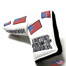 USA FLAG  Putter Cover Headcover For Scotty Cameron Taylormade Odyssey Blade