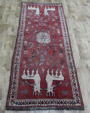 ANTIQUE TRADITIONAL PERSIAN Wool 2.4 X 6 FT ORIENTAL RUG HANDMADE CARPET RUGS